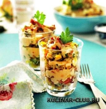 Праздничный крабовый салат