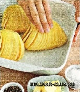Картофель в сырной панировке
