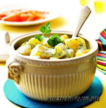 Картофель в белом соусе