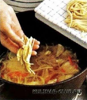 Куриный суп-лапша по-домашнему