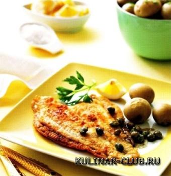 Камбала с лимонным соусом