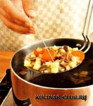 Зимний грибной суп