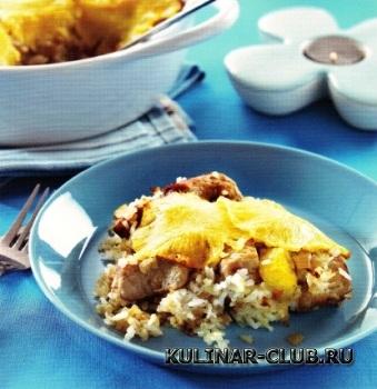 Свинина с рисом и ананасами