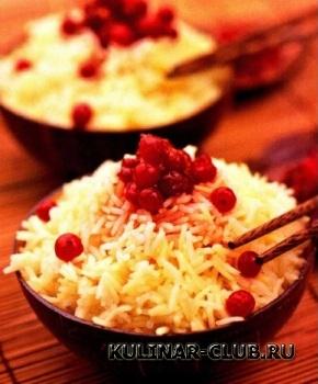 Рис с клюквой