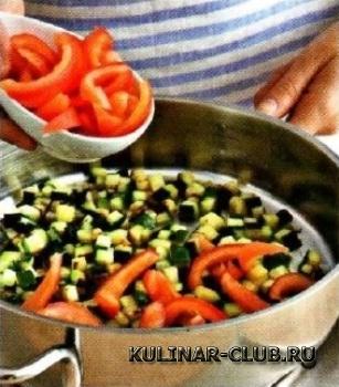 Лосось с овощным гарниром