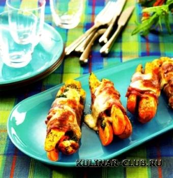 Морковь с беконом и сыром