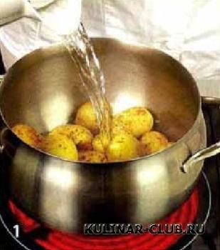 Картофель с беконом и луком