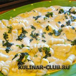 Картофельные Ньокки в сырном соусе