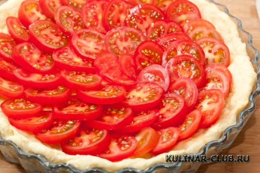 Тарт с помидорами черри